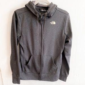 The North Face Gray Zip Up Sweatshirt Size Medium